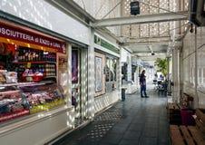 Entrée du nouveau marché de Testaccio à Rome Photographie stock libre de droits