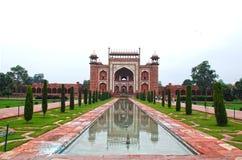 Entrée du Taj Mahal Images stock