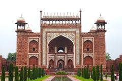 Entrée du Taj Mahal Image stock
