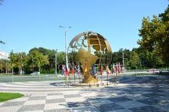 Entrée en parc de titan, Bucarest Image stock