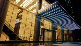 Entrée en verre à la construction moderne Photographie stock