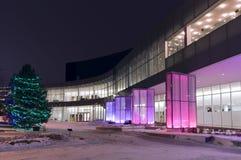 Entrée et façade centrales d'arts du spectacle Images libres de droits