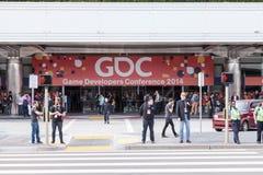 Entrée et logo de GDC 2014 Photographie stock libre de droits