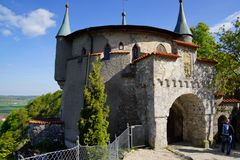 Entrée externe de secteur de château du Lichtenstein image stock