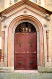 Entrée géorgienne Batumi la Géorgie de porte d'église orthodoxe image stock