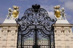 Entrée gardée au palais de belvédère Image libre de droits