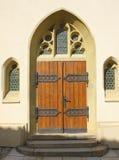 Entrée gothique à l'église Image libre de droits