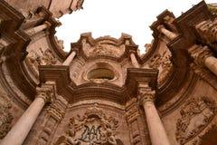 Entrée gothique d'église de style Images libres de droits