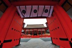 Entrée grande de temple au Japon Photos libres de droits