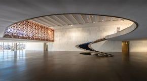 Entrée hall d'intérieur de palais d'Itamaraty - Brasilia, Distrito fédéral, Brésil photographie stock