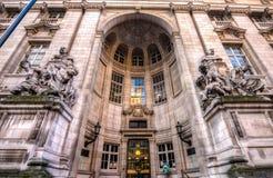 Entrée impériale de Londres d'université image libre de droits