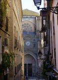 Entrée latérale à la cathédrale de St MarÃa De Toledo, Toledo, Espagne images libres de droits