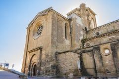 Entrée latérale à la vieille cathédrale de Lérida La Catalogne Espagne photo stock