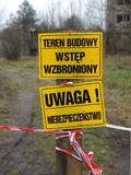 Entrée limitée Secteur militaire de ville fantôme en Pologne photo stock