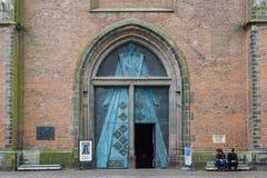 Entrée médiévale d'église Photographie stock libre de droits