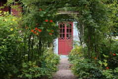 Entrée magique de jardin Photographie stock libre de droits