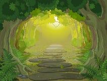 Entrée magique de paysage illustration de vecteur