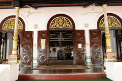 entrée 00Main de la mosquée ou du Masjid Tengkera de Tranquerah Image stock