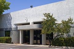 Entrée moderne d'immeuble de bureaux de corporation Image libre de droits