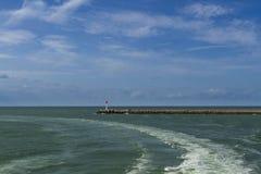 Entrée moderne de jour d'†de Dunkerque «au port Photographie stock libre de droits