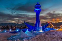 Entrée occidentale vers Eilat à l'aube Images libres de droits