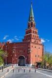 Entrée présidentielle Moscou de grand dos rouge Images stock