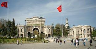 Entrée principale à l'université d'Istanbul Images libres de droits
