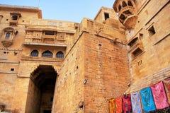 Entrée principale au fort de Jaisalmer, Inde photo stock