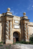 Entrée principale au fort Ricasoli Photos stock