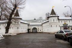 Entrée principale au monastère d'Andronikov du sauveur moscou Photos stock