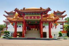 Entrée principale dans le temple de Thean Hou de Chinois Photos libres de droits