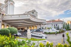 Entrée principale de lobby de Caesars Palace Photos stock