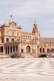 Entrée principale de Plaza de Espana en Séville Photographie stock libre de droits