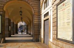 Entrée principale de théâtre de La Scala, Milan Images stock