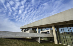 Entrée principale extérieure du Danemark Aarhus de musée de Moesgaard Photos stock