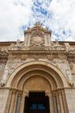 Entrée principale romane fine dans le clllegiate de San Isidoro Photo stock