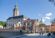 Entrée publique dans le saint Alexander Nevsky Lavra Image stock