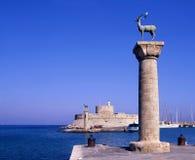entrée Rhodes images libres de droits