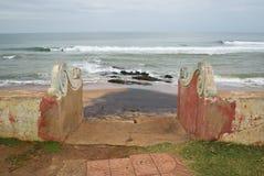 Entrée romantique à la plage photo stock