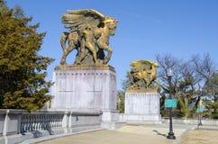 Entrée sur le pont en mémorial d'Arlington photos libres de droits