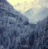 Entrée vers Chamonix. Photographie stock