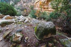 Entrée vers la gorge d'Avakas Photo stock