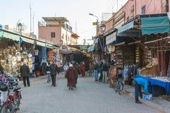 Entrée vers la Médina de Marrakech Photographie stock