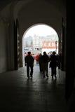 Entrée vers Moscou Kremlin Site de patrimoine mondial de l'UNESCO Image libre de droits