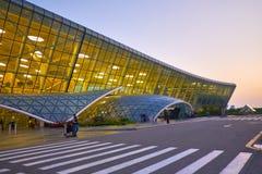 Entrées à Haider Ariev Airport Image libre de droits