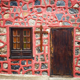 Entrées principales colorées à la maison Image stock