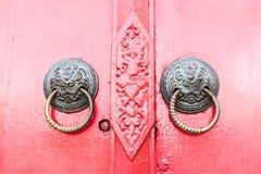 Entrées principales colorées aux maisons Photographie stock libre de droits