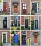 Entrées principales hollandaises. Photos libres de droits