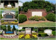 Entrées suburbaines de subdivisions Image stock