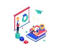 Entraînement d'affaires - illustration isométrique colorée moderne de vecteur illustration de vecteur